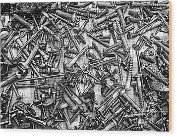 Bunch Screws 2 - Digital Effect Wood Print by Debbie Portwood