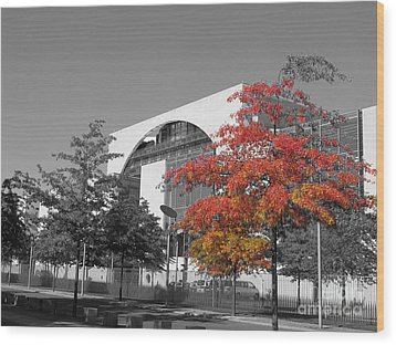 Bundeskanzleramt Chancellor's Office Wood Print by Art Photography