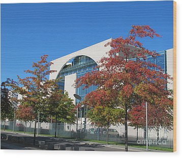 Bundeskanzleramt Federal Chanellery Wood Print by Art Photography