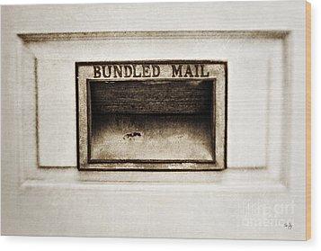 Bundled Mail Wood Print by Scott Pellegrin