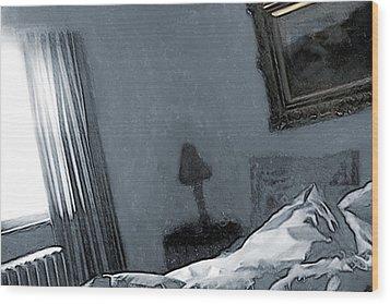 Bungalow Bedroom Wood Print