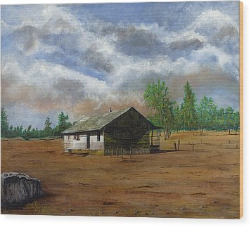 Bunk House Cheyenne Wy Wood Print by Stuart B Yaeger