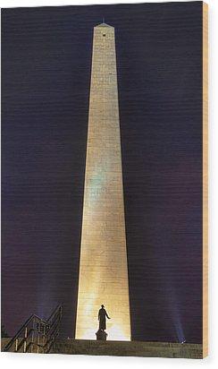 Bunker Hill Monument Wood Print by Joann Vitali