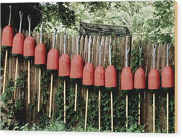 Buoys Wood Print