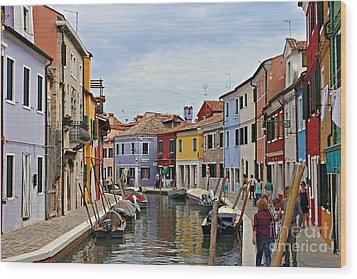 Wood Print featuring the photograph Burano Island by Cendrine Marrouat