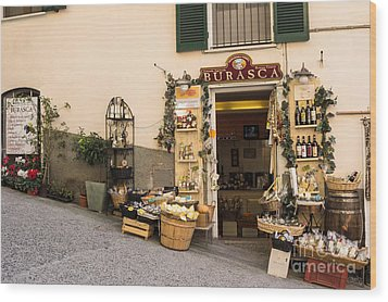 Burasca Shop Of Manarola Wood Print