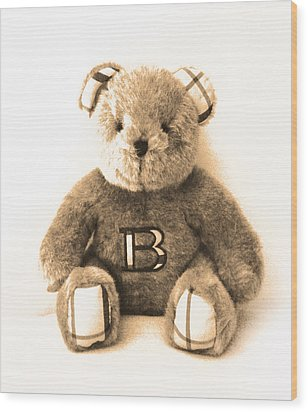 Burberry Bear Wood Print