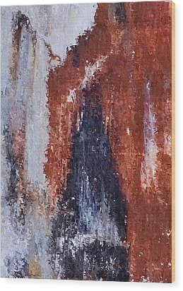 Wood Print featuring the digital art Burgundy And Black by Heidi Smith