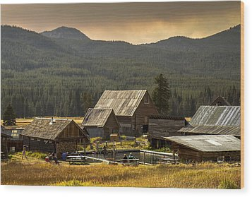 Burgdorf Hot Springs In Idaho Wood Print by For Ninety One Days