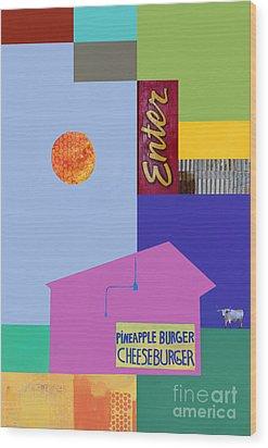 Burger Joint  #4 Wood Print by Elena Nosyreva