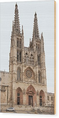 Burgos Cathedral Spain Wood Print by Rudi Prott