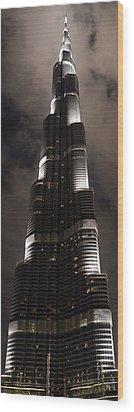 Burj Khalifa Wood Print by Corinne Rhode
