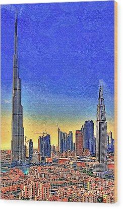 Burj Khalifa Dubai United Arab Emirates 20130426 Wood Print by Wingsdomain Art and Photography