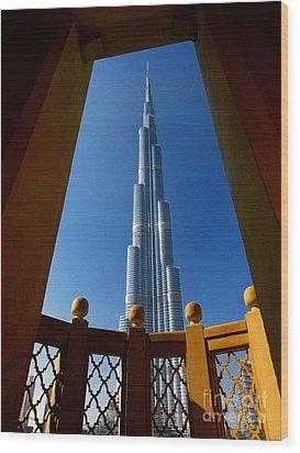 Wood Print featuring the photograph Burj Khalifa by Henry Kowalski
