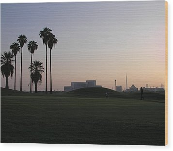 Burj -view From Golf Course Wood Print by Sunil Palayil