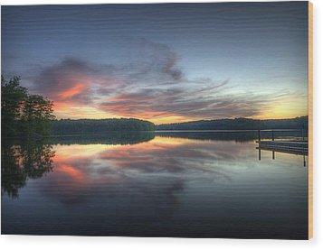 Burke Lake Reflection Wood Print by Michael Donahue