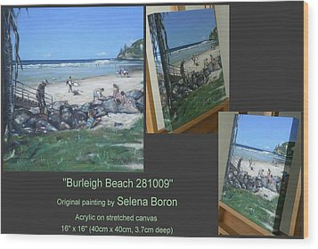 Wood Print featuring the painting Burleigh Beach 281009 by Selena Boron