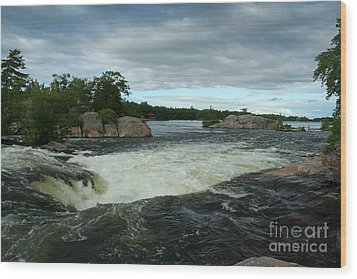 Wood Print featuring the photograph Burleigh Falls by Barbara McMahon