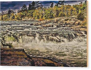 Burleigh Falls  Wood Print