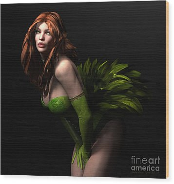 Wood Print featuring the digital art Burlesque by Sandra Bauser Digital Art