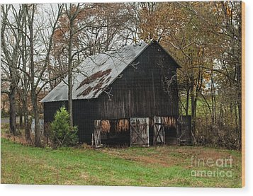 Wood Print featuring the photograph Burley Tobacco  Barn by Debbie Green