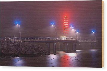 Burlington Pier Wood Print by JR Calcutt