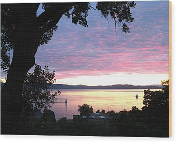 Burlington Sunset Wood Print