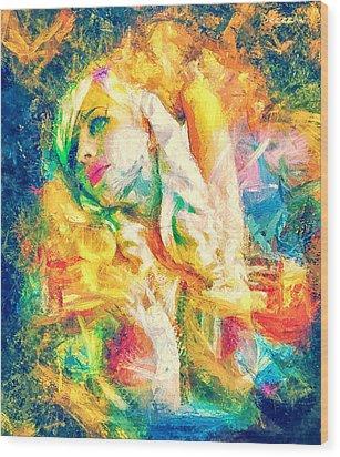Burning Dream Wood Print by Denis Galkin