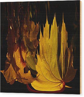 Burning Fall Wood Print by Jouko Lehto