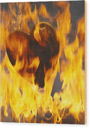 Burning Love C1978 Wood Print by Paul Ashby