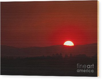 Wood Print featuring the photograph Burning Sky by Charles Kozierok