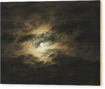 Burning Through Wood Print by Deborah  Crew-Johnson