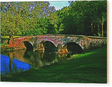 Wood Print featuring the photograph Burnside Bridge by Andy Lawless