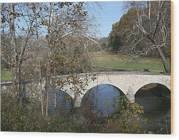 Burnside Bridge Wood Print by Jerry Tompkins