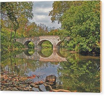 Burnside's Bridge 001 Wood Print