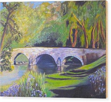 Burnside's Bridge At Antietam Wood Print