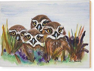 Burrowing Owls Wood Print by Dale Bernard
