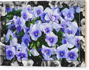 Burst Of Blue - B Wood Print