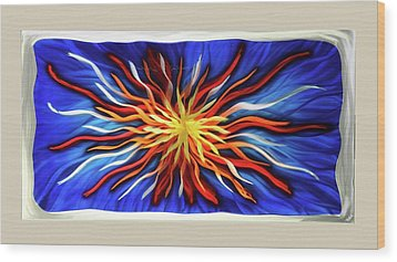 Burst Of Color Wood Print by Rick Roth
