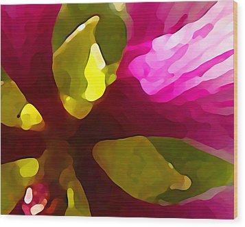 Burst Of Spring Wood Print by Amy Vangsgard