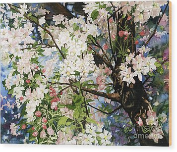 Burst Of Spring Wood Print by Barbara Jewell