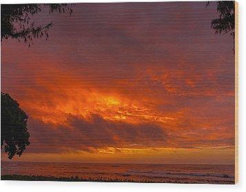 Bursting Sky Wood Print