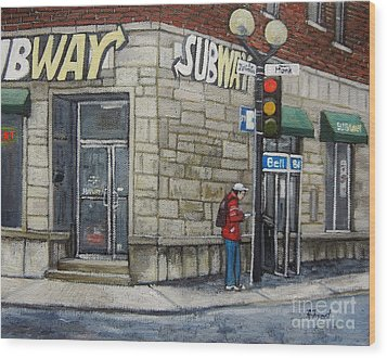 Bus Stop On Monk Wood Print by Reb Frost