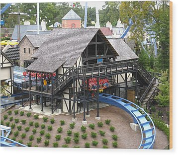 Busch Gardens - 121218 Wood Print by DC Photographer