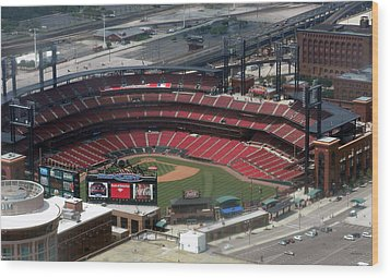 Busch Memorial Stadium Wood Print by Thomas Woolworth