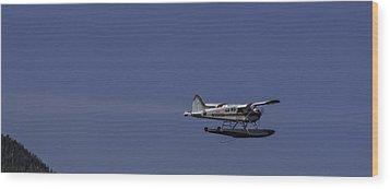 Bush Plane 001 Wood Print by Timothy Latta