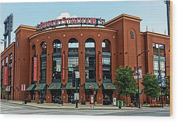 Busch Stadium Home Of The St Louis Cardinals Wood Print