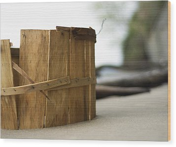 Wood Print featuring the photograph Bushel Basket by Rebecca Sherman
