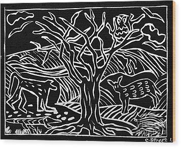 Bushveld Indaba Wood Print by Caroline Street