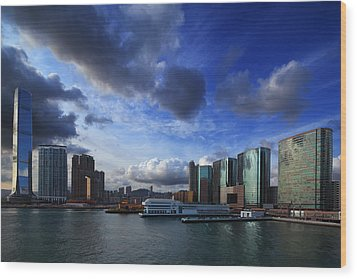 Wood Print featuring the photograph Business Harbour by Afrison Ma